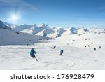 Skiers Enjoy In The Mountain O...