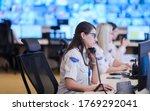 Female Security Guard Operator...