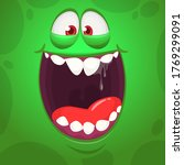 Funny Cartoon Reen Monster Fac...