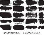 set of black brush strokes with ...   Shutterstock .eps vector #1769342114