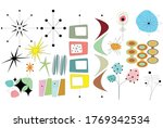 Mid Century Shapes Vector...