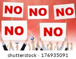 crowds of people protested... | Shutterstock . vector #176935091