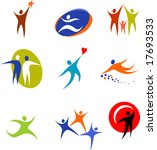 collection of human icons | Shutterstock .eps vector #17693533