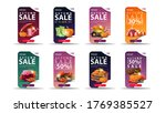 autumn sale  up to 50  off  set ... | Shutterstock .eps vector #1769385527