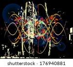 vector banner in style  grunge  ... | Shutterstock .eps vector #176940881