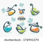 colorful vector collection of... | Shutterstock .eps vector #176941274
