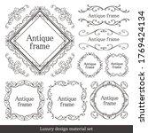 halloween frame material ... | Shutterstock .eps vector #1769424134