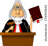 angry judge with gavel makes...