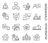 work from home icon set ... | Shutterstock .eps vector #1769445044