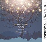 night christmas garden full of... | Shutterstock .eps vector #1769471207