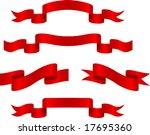 red banners. vector illustration | Shutterstock .eps vector #17695360