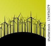 wind electricity generators and ... | Shutterstock .eps vector #176956379