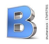 blue metal 3d alphabet... | Shutterstock . vector #176957501