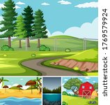 four different scenes in nature ... | Shutterstock .eps vector #1769579924
