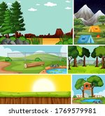 four different scenes in nature ... | Shutterstock .eps vector #1769579981