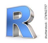 blue metal alphabet 3d... | Shutterstock . vector #176962757