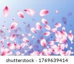 spring blossom isolated petals... | Shutterstock .eps vector #1769639414