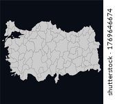 turkey map  brown color and...