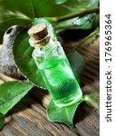 essential oil bottle.tea tree...   Shutterstock . vector #176965364