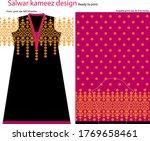 salwar kameez artwork for ready ... | Shutterstock .eps vector #1769658461