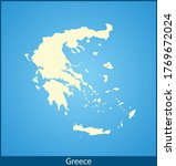 vector map of the greece | Shutterstock .eps vector #1769672024