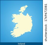 vector map of the ireland | Shutterstock .eps vector #1769672081