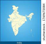 vector map of the india | Shutterstock .eps vector #1769672084