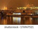 night romantic snowy prague... | Shutterstock . vector #176967521