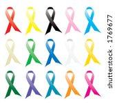 awareness ribbons   vector | Shutterstock .eps vector #1769677