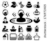 spa icons set .illustration... | Shutterstock .eps vector #176972405