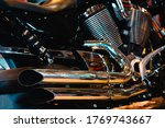 Close Up Of Modern Motorcycle...