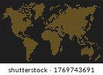 yellow dots of digital display... | Shutterstock .eps vector #1769743691