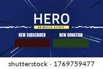 gamer hero alert box thumbnail... | Shutterstock .eps vector #1769759477