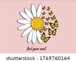 daisy butterfly design hand... | Shutterstock .eps vector #1769760164