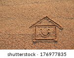 happy house and smile icon... | Shutterstock . vector #176977835