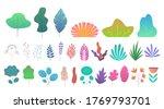 flat minimal leaves. simple...   Shutterstock . vector #1769793701