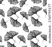ginkgo biloba leafs on white... | Shutterstock .eps vector #1769795177