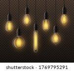 realistic light bulbs. hanging... | Shutterstock . vector #1769795291