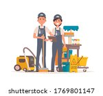 professional office cleaners... | Shutterstock .eps vector #1769801147