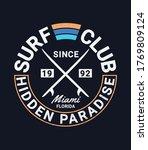 vector surfing badge. for t... | Shutterstock .eps vector #1769809124