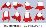 red hero cape label. white... | Shutterstock .eps vector #1769819144