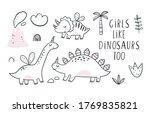 cute scandinavian print with... | Shutterstock .eps vector #1769835821