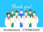 doctors team in protective face ... | Shutterstock . vector #1769861024