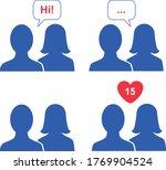 social media icons chatting... | Shutterstock .eps vector #1769904524