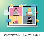 new normal concept  lifestyle... | Shutterstock .eps vector #1769930321