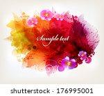 watercolor vector background... | Shutterstock .eps vector #176995001