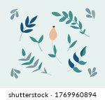 Foliage Print. Leaves Isolated...