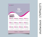 One Page Wall Calendar Design...