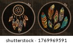 embroidery collection. dream... | Shutterstock .eps vector #1769969591
