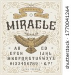font miracle. craft retro...   Shutterstock .eps vector #1770041264